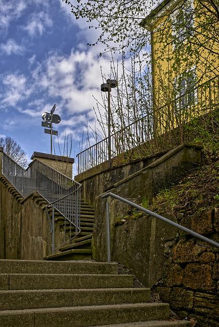Die Treppe zum Schlossplatz