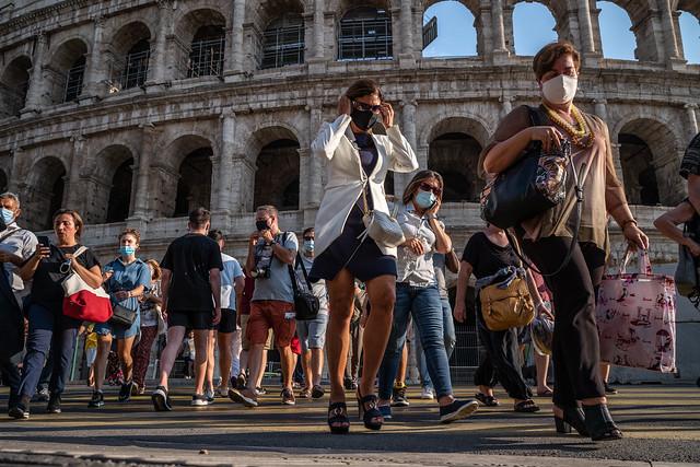 Romans in masks