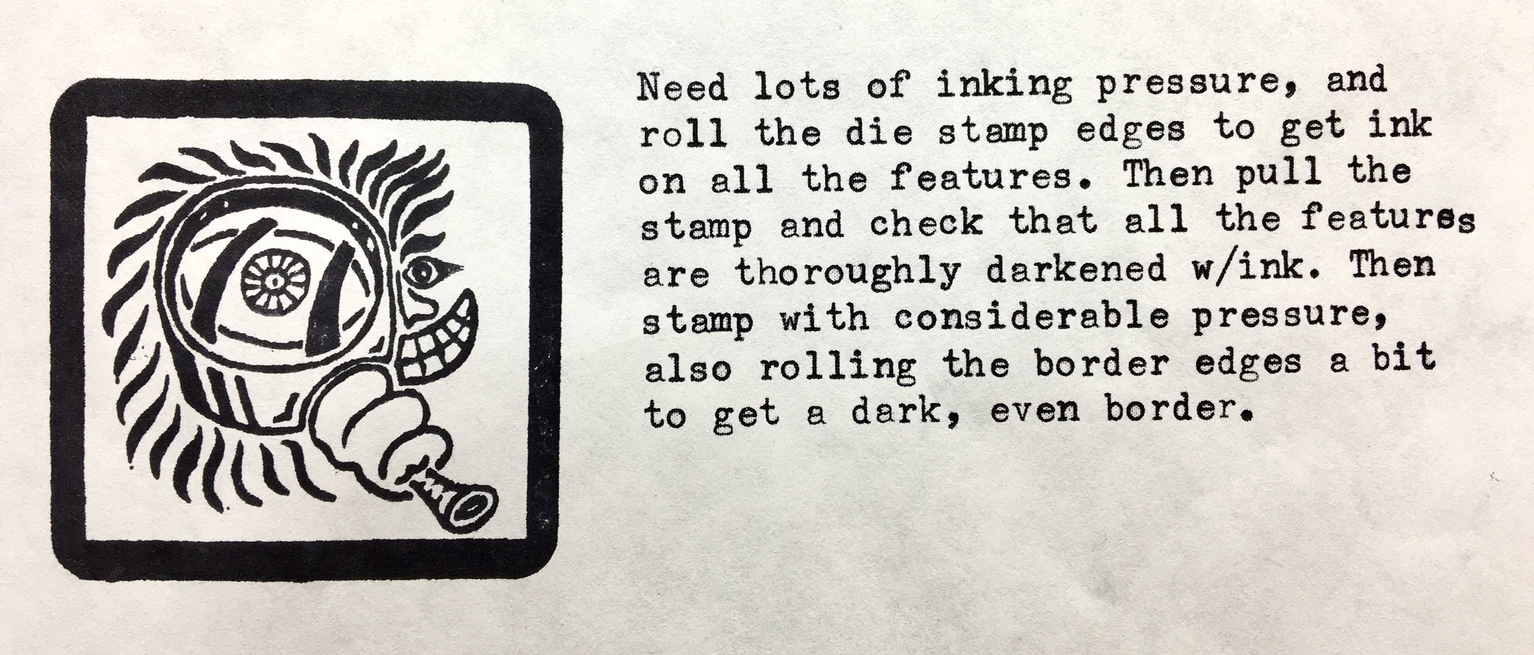 Stamped Dude & Typing