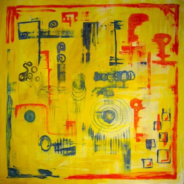 Abstract Ragged symbols vintage minimalistic acrylic contemporary artwork by Danny Hennesy 2010) abstract_ragged_symbols_by_mushroombrain_d32g8gw
