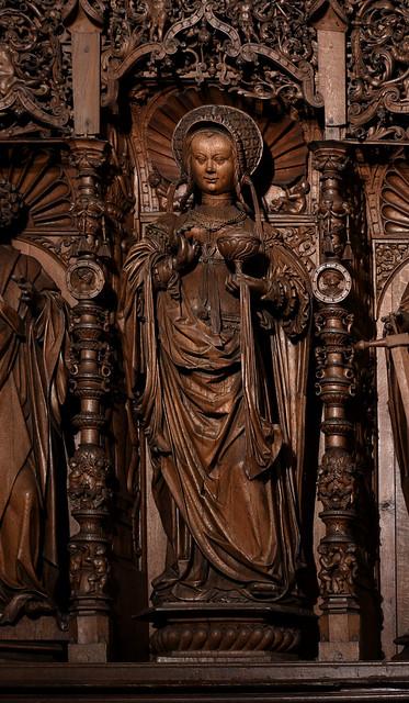 Kalkar, Westfalen, St. Nicolai, trinity altar, detail
