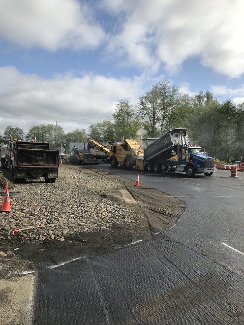 South end of the SR 107 Chehalis River Bridge nearly paved