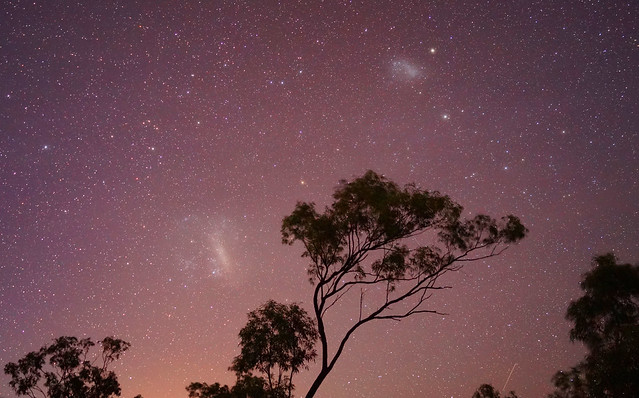 The Magellanic Clouds, Canopus, 47 Tucanae and Some Artificial Satellites - July 2, 2017