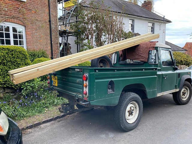 Joists on Land Rover