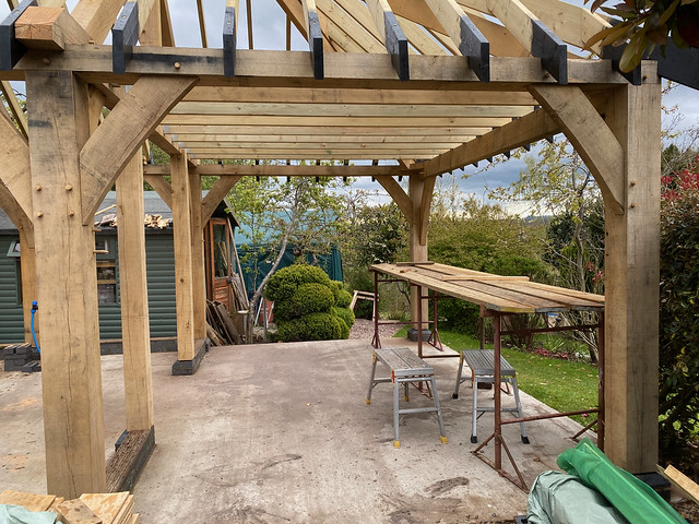 All joists in place (from front)