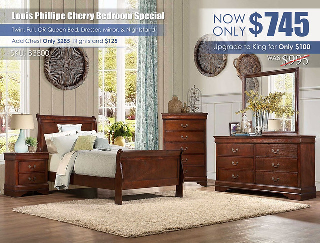 Louis Phillipe Cherry Youth Bedroom Special_B3800_2021