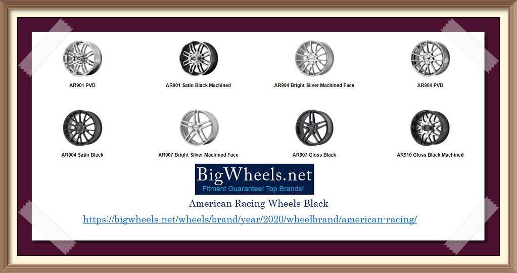 Buy Black American Racing Wheels Online
