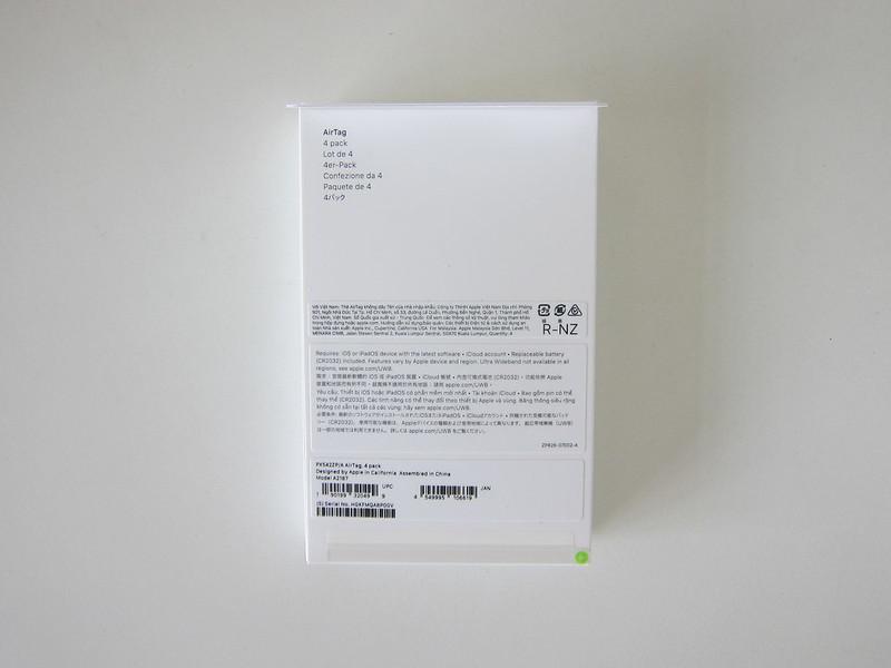 Apple AirTag - Box Back