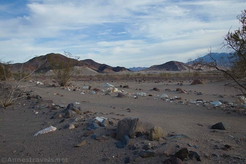 The old mining road near where we left it to walk toward the Ibex Dunes, Death Valley National Park, California
