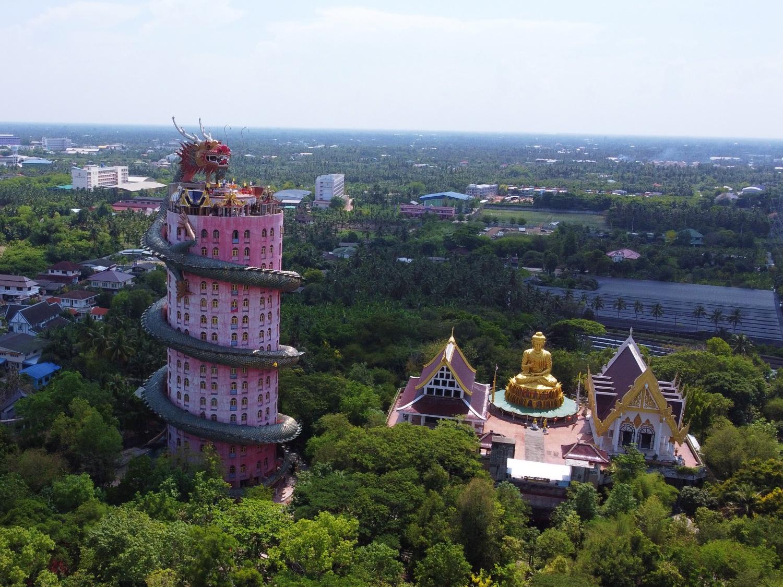 Dragon Temple Bangkok Drone