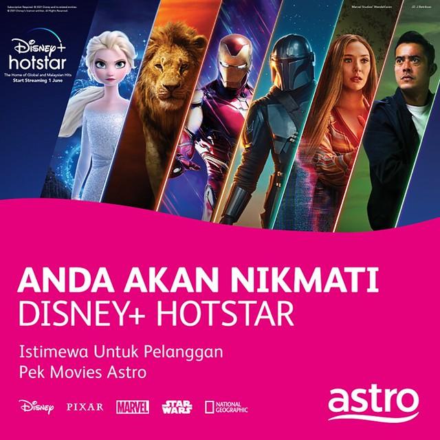 Astro Jadi Pengedar Rasmi Disney+ Hotstar, Percuma Untuk Pelanggan 'Movies Pack'