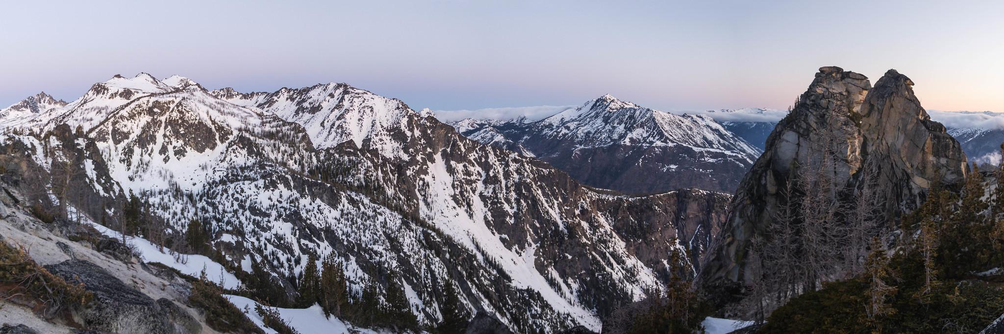 Cannon Mountain to Edward Peak panoramic view
