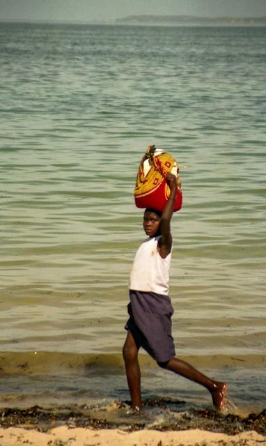 Girl on Beach; Vilanculos, Mozambique