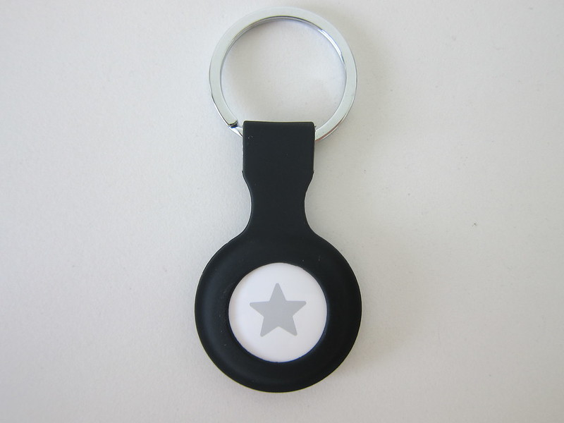 OEM Apple AirTag Key Ring - Black - With AirTag - Front