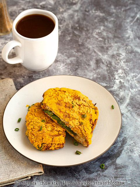 Spinach-Stuffed Savory Bread Omelet