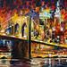 BROOKLYN BRIDGE — oil painting on canvas