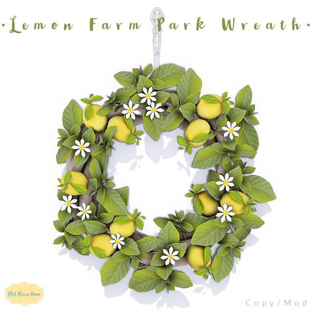 {OBD} Lemon Farm Park Wreath