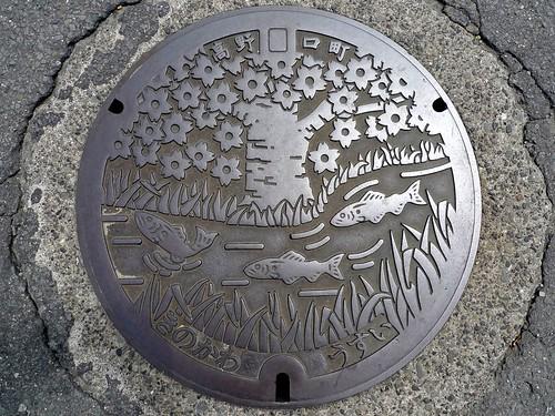 Koyaguchi Wakayama, manhole cover (和歌山県高野口町のマンホール6)