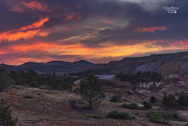 Sunset in Nerva (Basin Mining)..