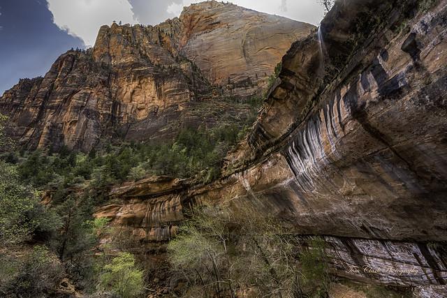 Lady Mountain and Emerald Pool waterfall