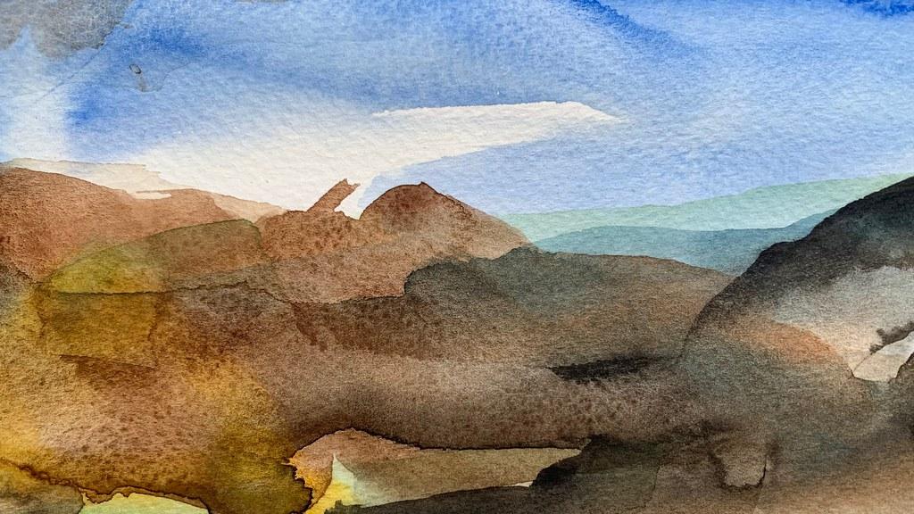 Landscape akvarell.