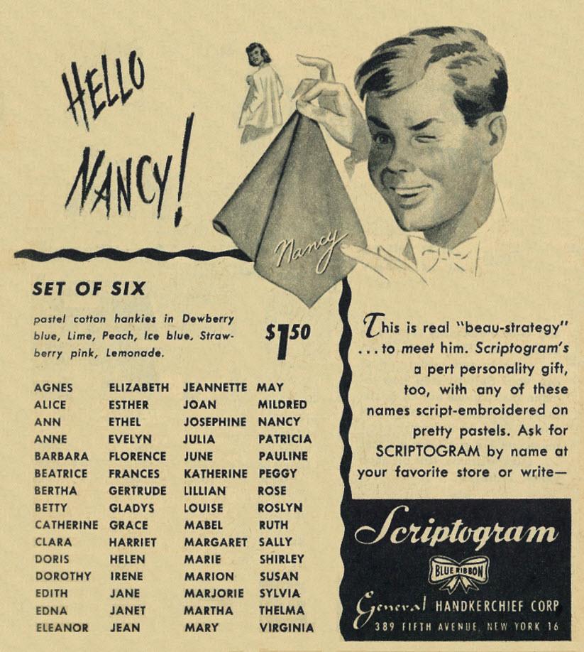 Scriptogram - published in Calling All Girls - November 1947