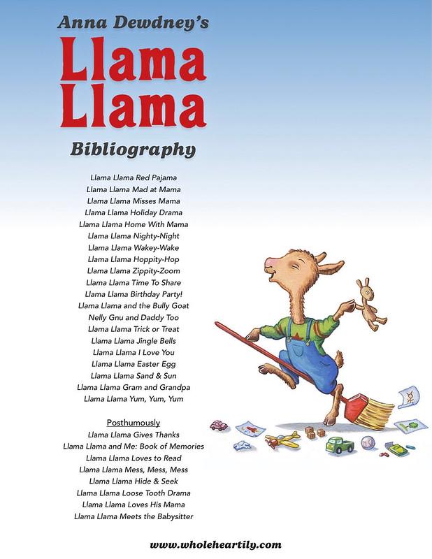 Anna Dewdney's Llama Llama Bibliography