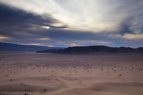 Views southwest from the top of the Ibex Dunes, Death Valley National Park, California