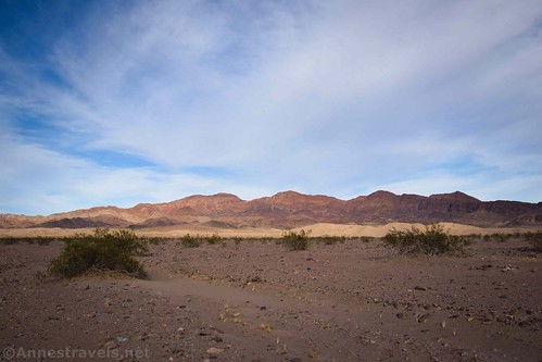 Views toward the Ibex Dunes and the mountains beyond, Death Valley National Park, California