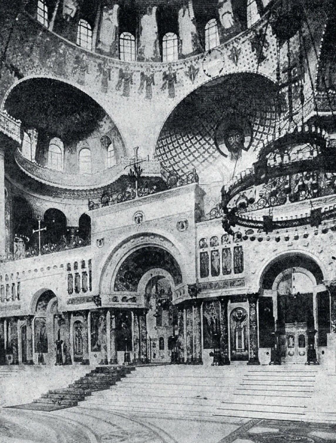 1913. Интерьер Морского собора в Кронштадте
