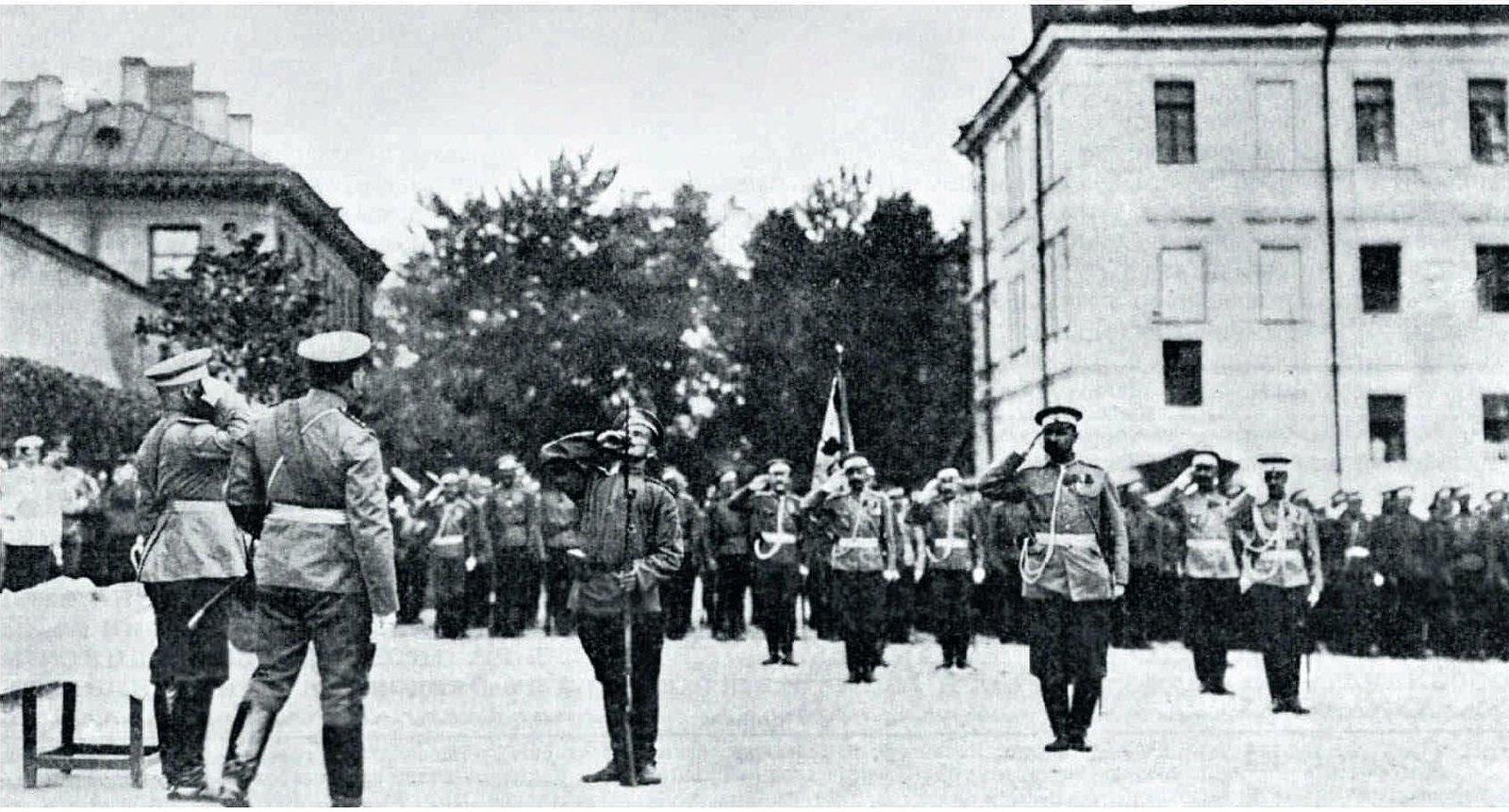 1907. Знамя 147-го Самарского Пехотого полка, бывшее в бою под Мукденом