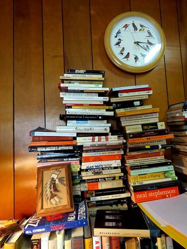 a pyramid of books