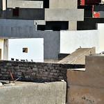 roofs terrace pattern façon Nicolas de Stael
