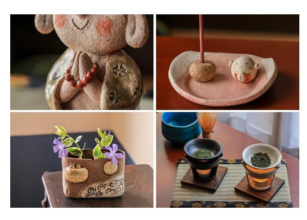 瀬戸焼のお地蔵さん、茶香炉、お香立て