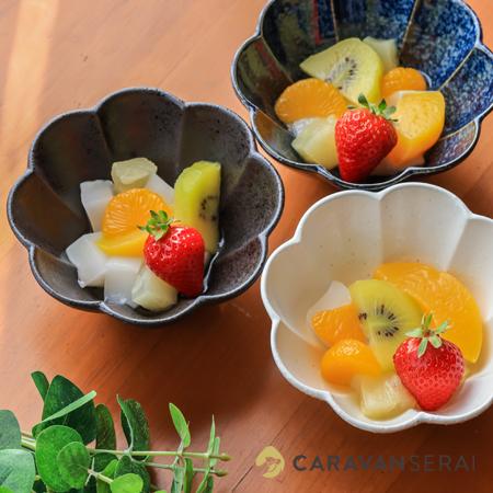 ヒシエム水野陶器さんの器 カメリア カットフルーツを盛って