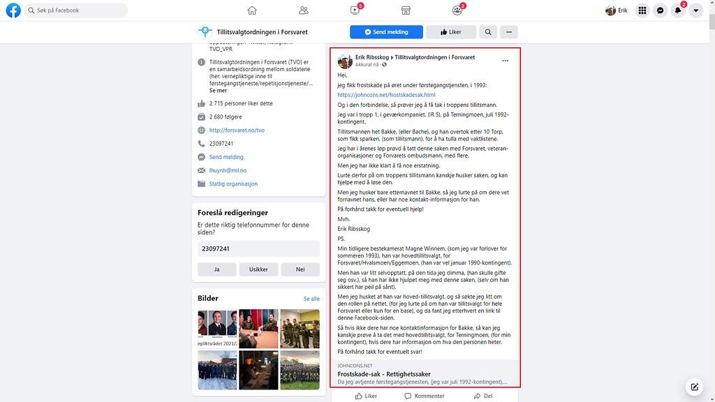 tillitsmann side facebook