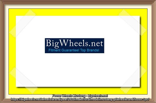Buy Foose Wheels for Mustang