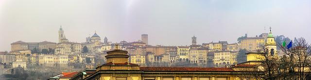 La città alta vista dalla città bassa