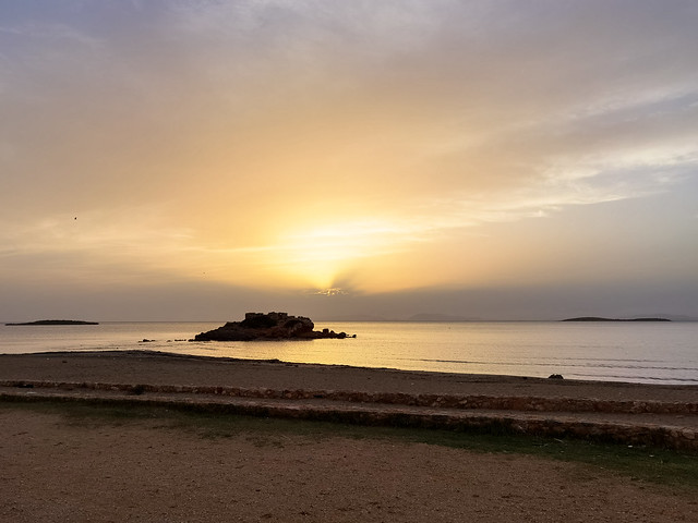 cloudy sunset - kavouri