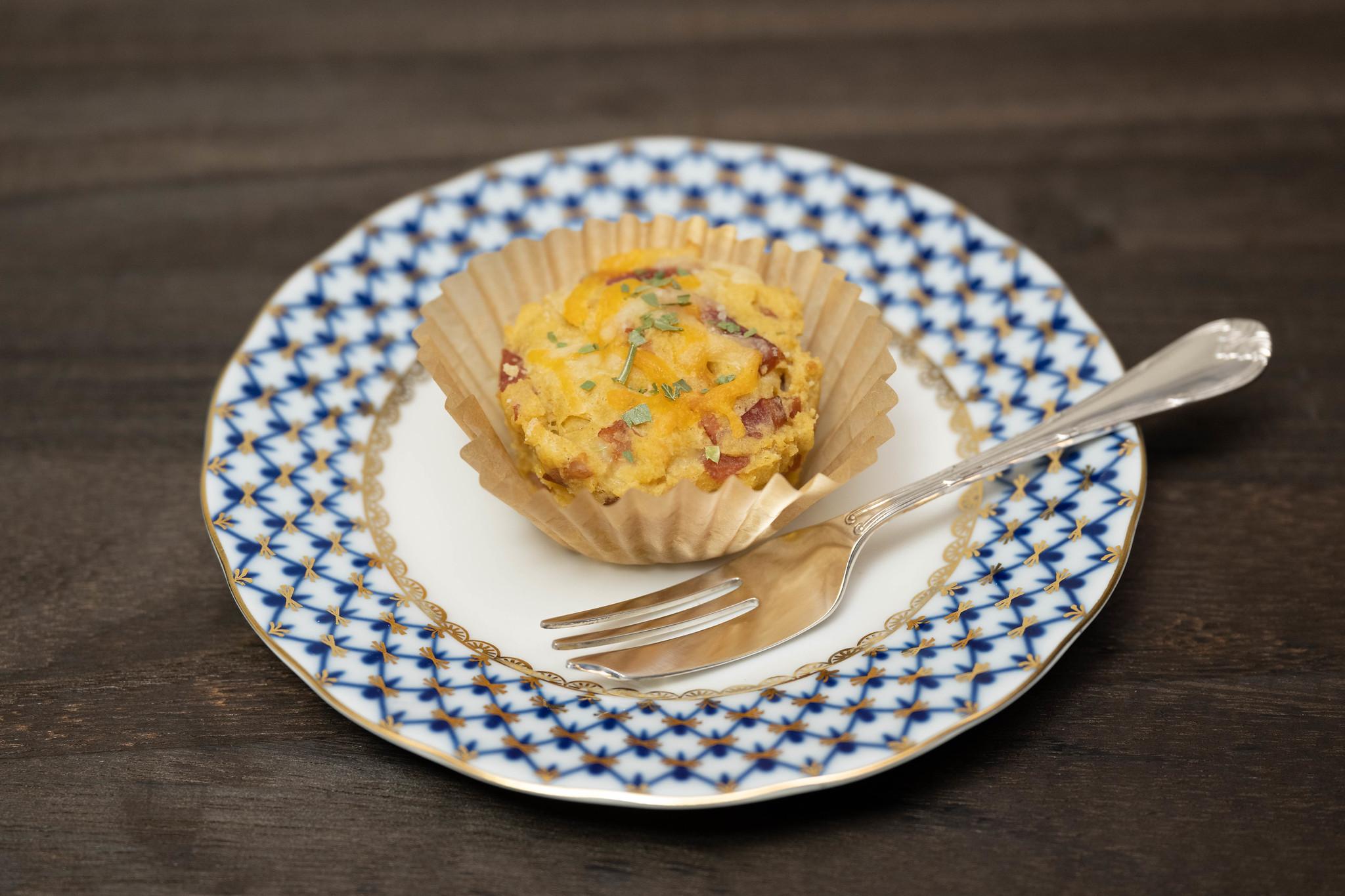 サイリウムマフィン(ベーコン&チーズ)