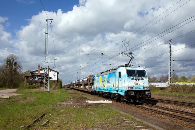 HSL 186 364 Waverider + DGS Zeebrugge - Frankfurt (Oder)  - Satzkorn