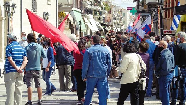 Απεργιακή συγκέντρωση για την Πρωτομαγιά στη Λευκάδα