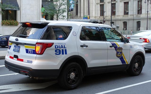 FORD Philadelphia Police Car (PPD) on S Broad St in Philadelphia, PA