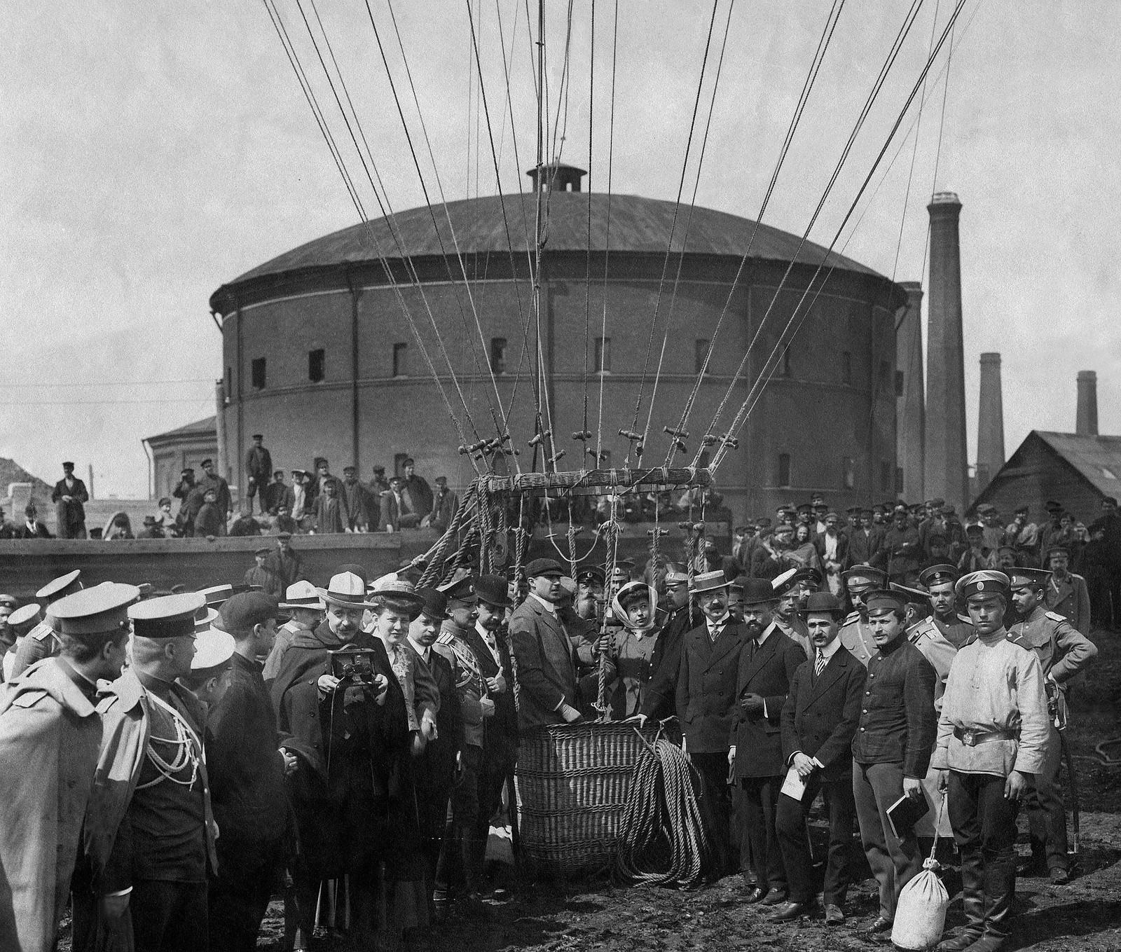 1909. Неудачный подъем воздушного шара «Генерал Ванновский» с четырьмя пассажирами