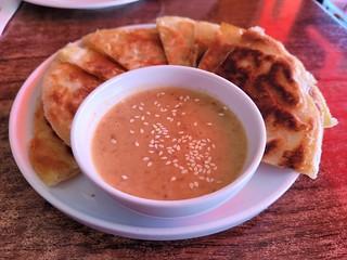 Roti and Peanut Sauce at U-Tong Thai