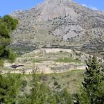 Overlooking the citadel at Mycenae, Greece