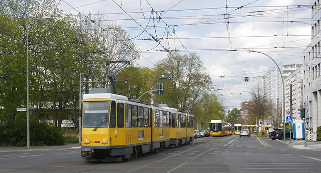 Berlin's Last Tatras - BVG ČKD Tatra/ Bautzen KT4D 61xx MetroTram M6 Konrad-Wolf-Straße, 13055 Berlin