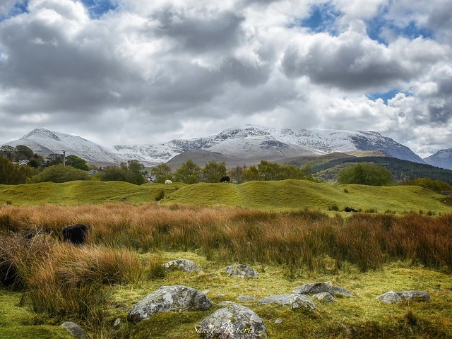 Snow on our Welsh mountains .in May