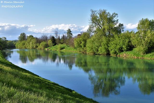River Kupa natural landscape - Karlovac, Croatia