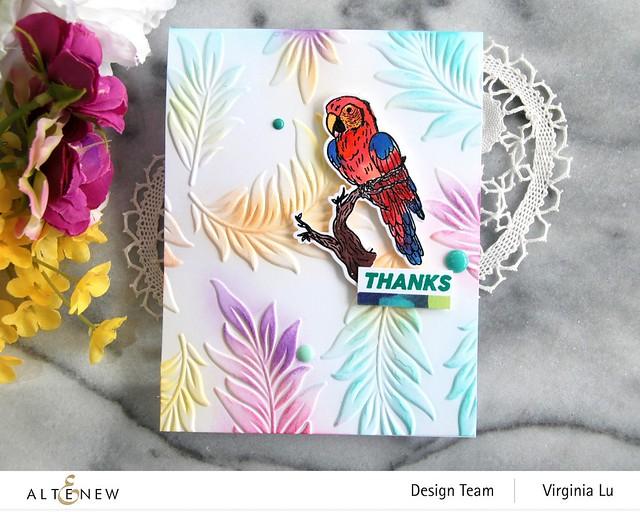 Altenew-Exotic Parrot Stamp & Die Bundle-Floating Foliage 3D Embossing Folder -003